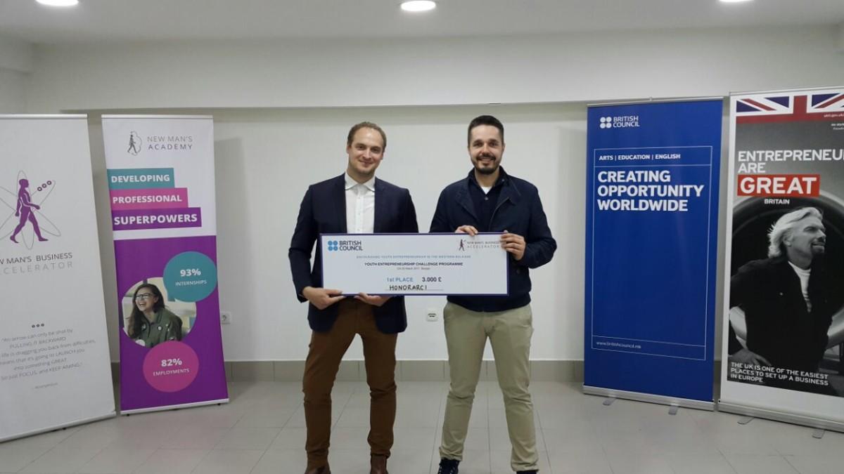 Honorarci.rs najbolji na takmičenju startup kompanija Zapadnog Balkana