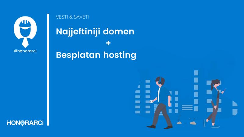 Najjeftiniji domen + besplatan hosting