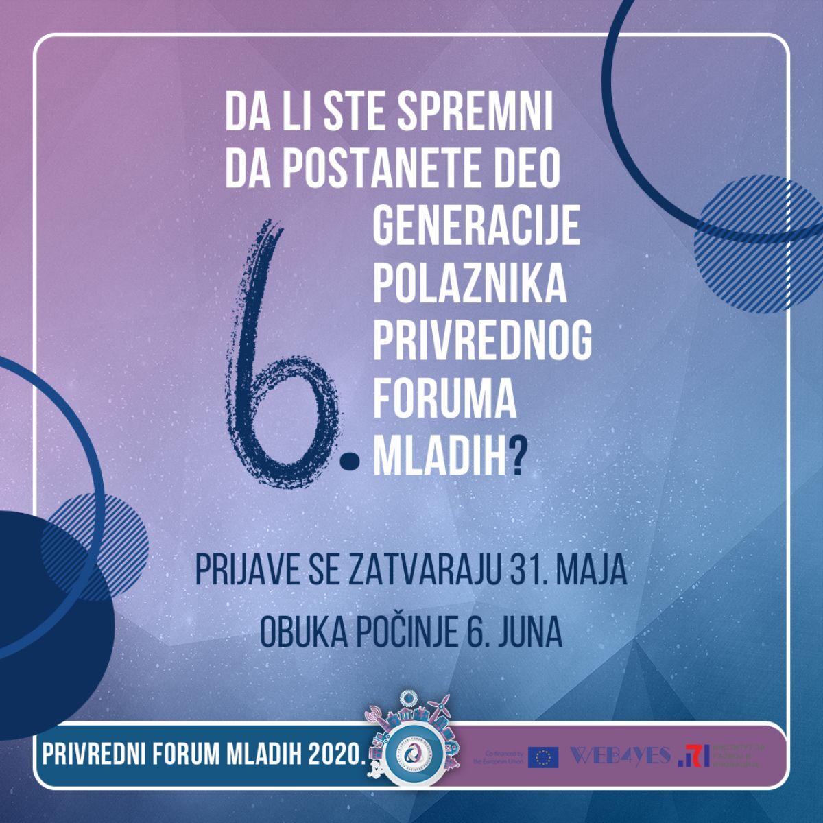Privredni forum mladih 6.0 – online obuka za započinjanje sopstvenog biznisa